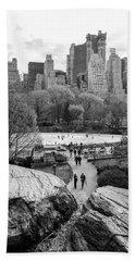 New York City Central Park Ice Skating Beach Sheet