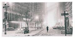 New York City - Empty Streets Beach Towel