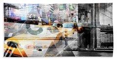 New York City Geometric Mix No. 9 Beach Towel by Melanie Viola
