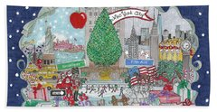 New York City Holiday Beach Towel