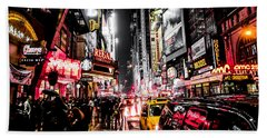 Beach Towel featuring the photograph New York City Night II by Nicklas Gustafsson
