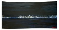 New York City Nights Beach Towel