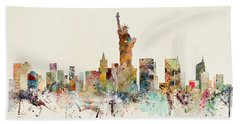 New York City Skyline Beach Sheet