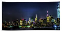 New York City Skyline Beach Sheet