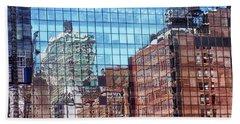 New York City Skyscraper Art 4 Beach Towel by Judi Saunders