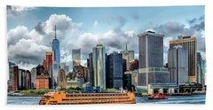 New York City Staten Island Ferry Beach Towel