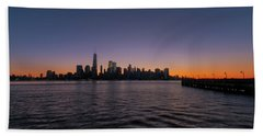 New York City Sunrise Beach Sheet by Tom Singleton