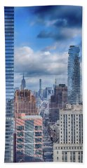 New York Cityscape Beach Towel by Dyle Warren