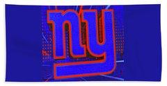 New York Giants Logo # 2 Beach Towel