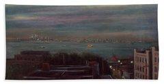 New York Harbor Beach Towel