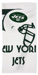 New York Jets Team Vintage Art Beach Towel