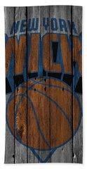 New York Knicks Wood Fence Beach Towel