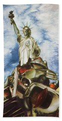 New York Liberty 77 - Fantasy Art Painting Beach Towel
