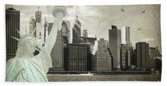 New York New York Da Beach Towel