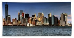 Beach Towel featuring the photograph New York New York by Tom Prendergast