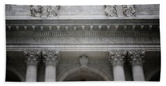 New York Public Library- Art By Linda Woods Beach Towel