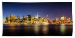 New York Skyline Beach Towel by Marvin Spates
