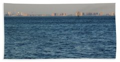 Beach Towel featuring the photograph New York Skyline by Robbie Masso