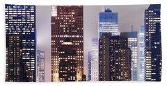 New York Skyscrapers Beach Towel