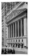 New York Stock Exchange Circa 1904 Beach Sheet by Jon Neidert