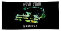 Beach Sheet featuring the digital art New York Streets by Kim Gauge