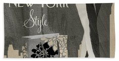 New York Style I Beach Towel by Mindy Sommers