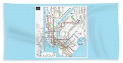 New York Subway Map Beach Sheet