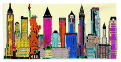 New York - The Big City Beach Towel