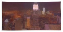New York View Top Of The Rock  Beach Towel