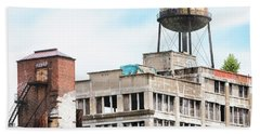 Beach Towel featuring the photograph New York Water Towers 18 - Greenpoint Water Tower by Gary Heller