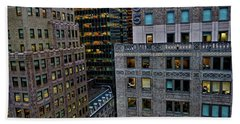 New York Windows Beach Towel