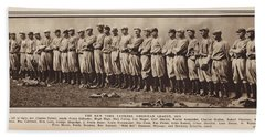 Beach Towel featuring the photograph New York Yankees 1916 by Daniel Hagerman