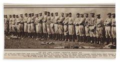 Beach Sheet featuring the photograph New York Yankees 1916 by Daniel Hagerman