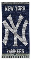 New York Yankees Brick Wall Beach Towel