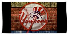 New York Yankees Top Hat Brick 2 Beach Towel