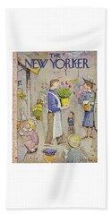 New Yorker April 5 1958 Beach Towel