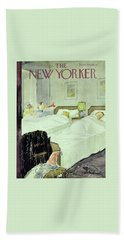 New Yorker December 29 1956painting Beach Towel