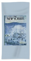 New Yorker February 18 1956 Beach Towel