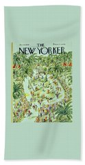 New Yorker January 18 1958 Beach Towel