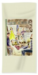 New Yorker January 7, 1950 Beach Towel