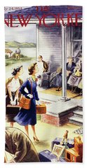 New Yorker July 24 1954 Beach Towel