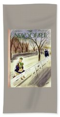 New Yorker March 18 1950 Beach Towel