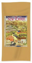 New Yorker November 28 1953 Beach Towel