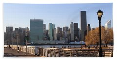 New York's Skyline - A View From Gantry Plaza State Park Beach Sheet