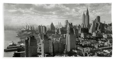New Your City Skyline Beach Towel by Jon Neidert