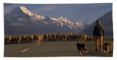 New Zealand Mt Cook Beach Towel