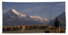 New Zealand Mt Cook Beach Towel by Travel Pics