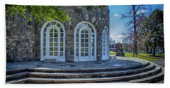 Newburgh Downing Park Shelter House Side View Beach Towel