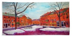 Newburyport Ma In Winter Beach Towel