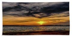 Newd Sunset Beach Towel by Doug Long